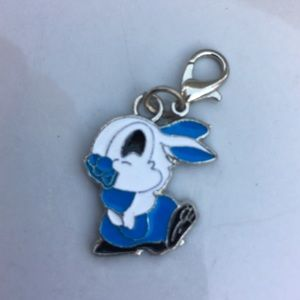 Jewelry - Cute bunny rabbit clip charm in red or blue